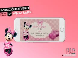 Minnie Mouse Video Invitacion Para Enviar Por Whatsapp Pac 400