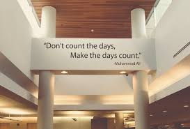 Gym Wall Decal Inspirational Quote Wall Decal Boxing Decor Boxing Quote Decal Don T Count The Days Make The Days Count Muhammad Ali