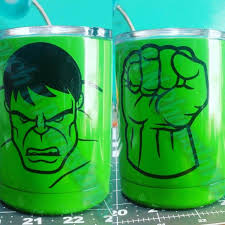 Hulk Superhero Green Streangth Uniquegifts Keepsake Fun Vinyllife Customised Personalised Persona Kids Tumbler Yeti Cup Designs Glitter Tumbler Cups