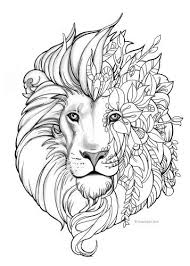 Fantasy Lion Kleurplaten Mandala Kleurplaten En Dieren Kleurplaten