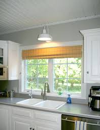 wall mounted light over kitchen sink