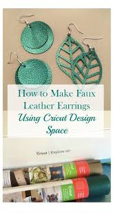 how to make faux leather earrings with