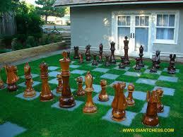 outdoor wooden garden chess perfect