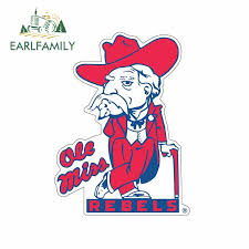 Earlfamily 13cm X 9 6cm For Ole Miss Colonel Reb Rebels Car Stickers Cartoon Vinyl Decal Waterproof Scratch Proof Suv Decoration Car Stickers Aliexpress