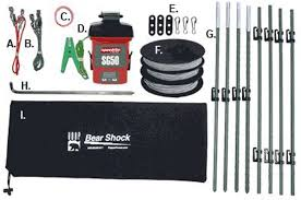 Amazon Com Udap Bef Bear Shock Electric Fence Bear Protection Sports Outdoors