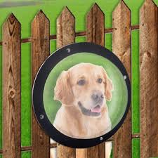 H B Luxuries Durable Acrylic Dome Dog Window For Fence To View Outside For Satisfying Curious Pets Fw058