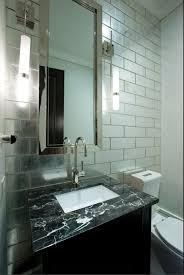 bevel edge mirror subway tile antique