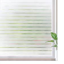 Rabbitgoo Frosted Window Film Static Cling Decorative Privacy Film Window Sticker Uv Protection Window Covering Light Blocking Film Removable Reusable Stripe Patterns 35 4 X 78 7 Inches Walmart Com Walmart Com