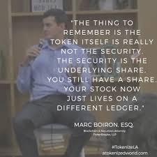 """Marc Boiron on Twitter: """"Can we all please agree that tokenizing stock  results in selling stock, which is a security, and not selling a token,  which is not a security. The token"""