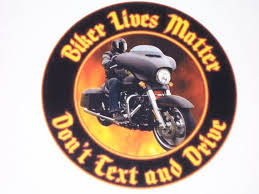 Biker Lives Matter Dont Text And Drive W Flames Fire Decal Etsy