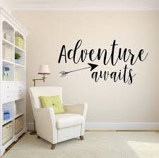 Amazon Com Adventure Awaits Wall Decal Arrow Vinyl Wall Decor Saying Stickers With Arrow Wall Art Medium Baby