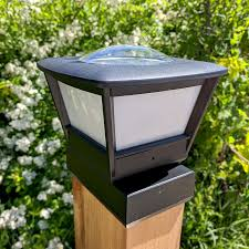 4x6 Fence Post Solar Light By Free Light 4x6 Post Cap Solar Light