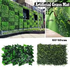 4pcs Artificial Lvy Leaf Hedge Mat Fence Fake Plant Grass Wall Outdoor Panel Lazada