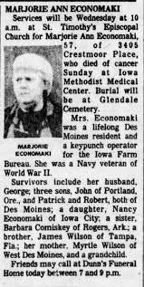 Obituary -Marjorie Anne Wilson Economaki aged 57 daughter of ...