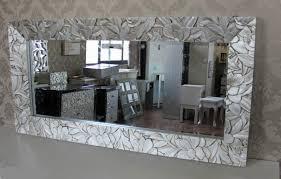 fl carved wood mirror framed