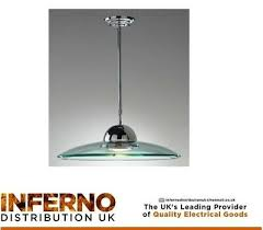 clear glass shade dome pendant chrome
