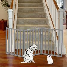 Shop Wooden Pet Gate Foldable 3 Panel Indoor Barrier Fence 54 X24 By Petmaker Overstock 23527406