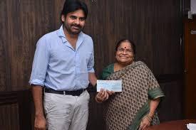 pawan kalyan mother donation to