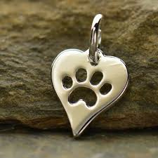 dog paw charm necklace cat paw pendant