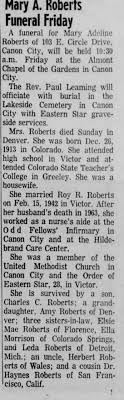 Obituary for Mary Adeline Roberts - Newspapers.com