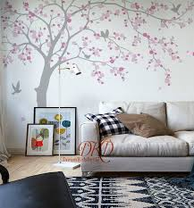 Cherry Blossoms Tree Wall Decal For Nursery Girls Room Etsy