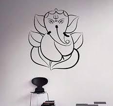 Amazon Com Lord Ganesha Vinyl Decal Hindu God Wall Sticker Indian Home Wall Interior Ethnic Indian Ornament India Culture 26 Elp Kitchen Dining