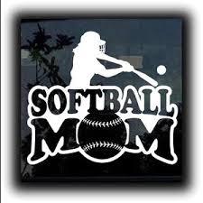 Softball Mom Window Decal Sticker A1 Custom Sticker Shop