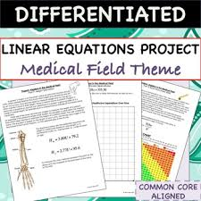 linear equations project algebra in