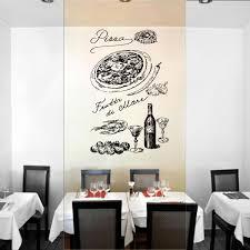 Ik1023 Wall Decal Sticker Pizza Ingredients Wine Pizzeria Italian Restaurant 96802400186 Ebay