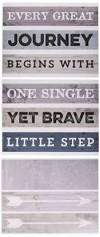 Amazon Com Wall Decor Inspirational Quote Peel And Stick Wall Decals Easy To Remove Vinyl Quote Every Great Journey Begins With One Single Yet Brave Little Step By Paper Riot