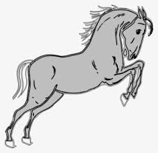Horse Jumping Fence Easy Horse Jumping Drawing Free Transparent Clipart Clipartkey