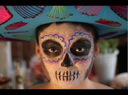 día de los muertos face makeup tutorial