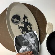 How To Create An Underglaze Transfer Using A Photocopy Our Halloween Project Blog