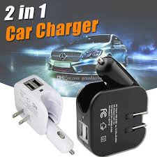 wall charger car charger dual usb port