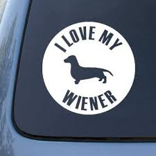 Amazon Com Ns Fx Love My Wiener Dog Dachshund Vinyl Car Decal Sticker 1622 Vinyl Color White Automotive
