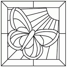 printable stained glass window coloring