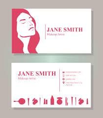 makeup artist business card free vector