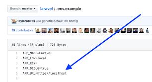change app url in laravel env file