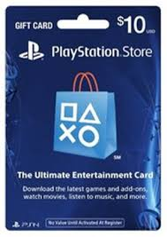 sony playstation network card 10 gift