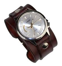 genuine leather watchband mens watch