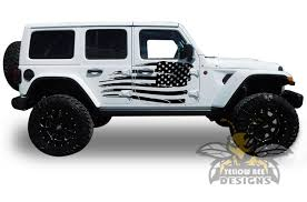 Usa Flag Graphics Jeep Jl Wrangler Decals 2020 Side Stickers