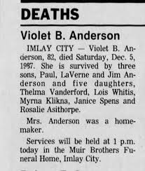 Klikna, Myrna Anderson Death of Mother - Newspapers.com
