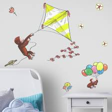 Curious George Storybook Kite Peel And Stick Giant Wall Decals Wall Decals By Buildcom