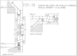 Construction Of Fixing The Fence With Side Pin Section View Dwg File Cadbull