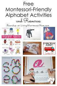 montessori friendly alphabet activities