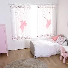 White Star Print Poly Cotton Cute Short Kids Panel Curtains