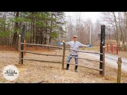 Making Rustic Wood Fence From Black Locust Youtube