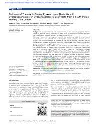 biopsy proven lupus nephritis