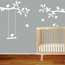 Tree Branches Swinging Birds Wall Decal Removable Nursery Wall Sticker Wall Art Mural Kids Nursery Baby Girl S Room Home Decor Wall Stickers Aliexpress