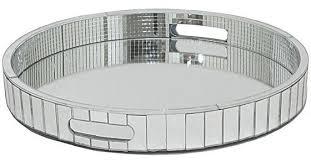mika silver mirrored tray
